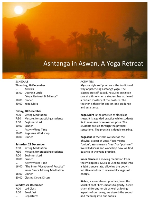 Ashtanga in Aswan Program