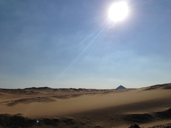 Sun over Dashour's Bent Pyramid.