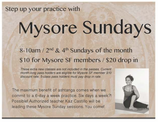 Mysore Sundays Flyer